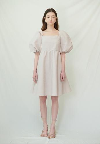 TAV [Korean Designer Brand] Old Bailey Dress - Pink 4AF1FAA8CF3307GS_1
