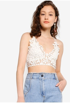 1224046970e Free People white Miss Dazie Bralette 930EEUSF3D9B7BGS 1
