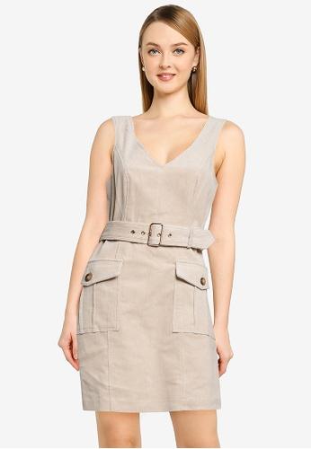 Forever New beige Delta Corduroy Mini Dress DF4CCAA4E8A048GS_1