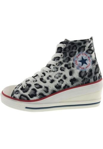 Maxstar Maxstar Women's 7H Zipper Satin Low Wedge Heel Sneakers US Women Size MA168SH70CHHHK_1