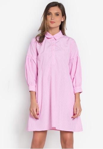 Verve Street pink Aldora Dress VE915AA0K5SDPH_1