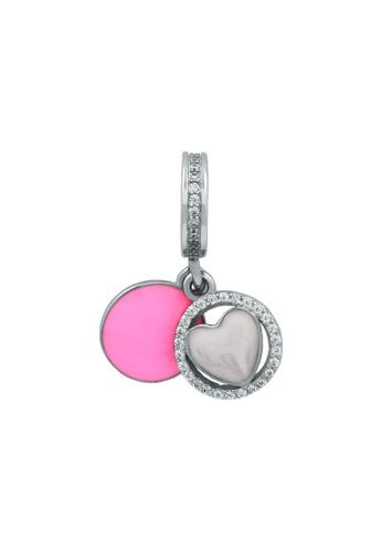 JEOEL pink and silver JEOEL Heart Flip Charm 99B64AC2C90917GS_1