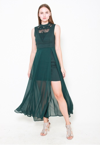 Leline Style green Eliana Crochet Dress 0E6C5AAAB17A47GS_1