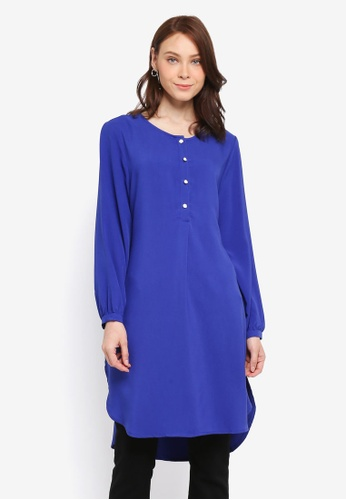 BYN blue Muslimah Blouse 1C060AA8285F13GS_1