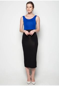 Pipe Dress Two Tone