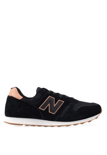 New Balance black 373 Lifestyle Shoes E9E7ESH6D4D3CDGS_1