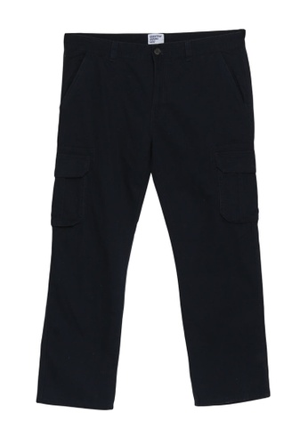 Electro Denim Lab blue Plus Size Straight Cut Cargo Pants AC767AA2C543CFGS_1