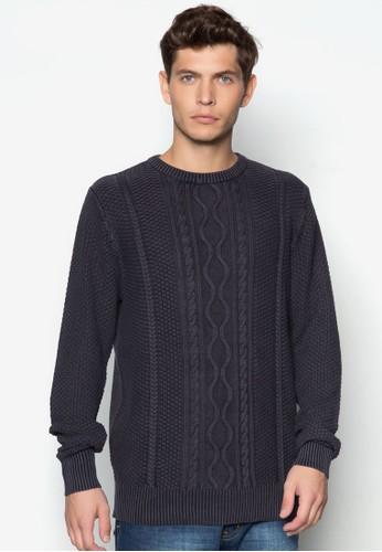 雕花長袖針織衫, 服飾, esprit hk分店服飾