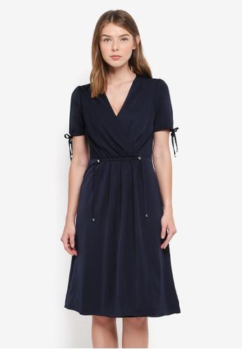 OVS navy Blue Woven Dress 42929AA3A029C9GS_1