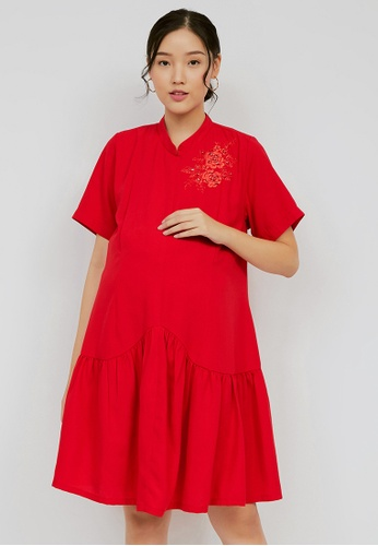 Chantilly red Chantilly Dress 2in1 Pregnant / Breastfeeding with Slimming Effect DA531AA1E29A49GS_1