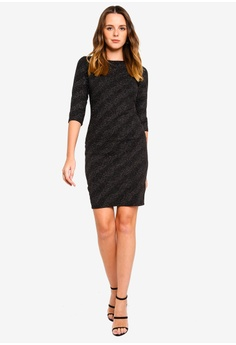 56bf041ae7 60% OFF Dorothy Perkins Glitter Slash Neck Bodycon RM 189.00 NOW RM 75.90  Sizes 6 8 10 12 14