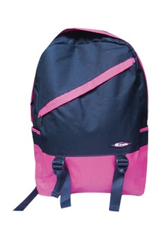 Sroute Dual Color School Bag BackPack BP-D1 (Pink/Black)