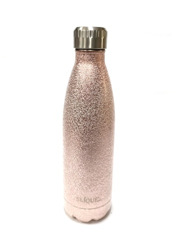 Slique gold Premium Stainless Steel Glitter Finish Insulated Water Bottle 500ml B5164HL37C402AGS_1