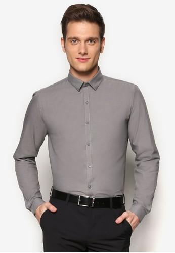 修身正式感素色長袖襯衫, 服zalora 衣服評價飾, 服飾