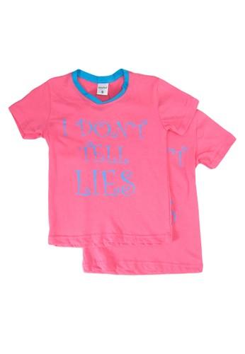 UniqTee pink I Don?t Tell Tee 2-Pack F4BFDKA0CDF2DCGS_1