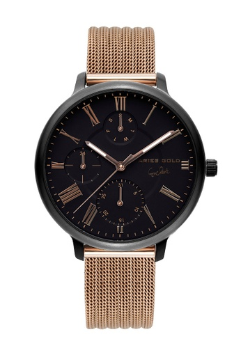Aries Gold grey Aries Gold Voyage L 5034 Rose Gold and Grey Watch 2A325AC333A682GS_1