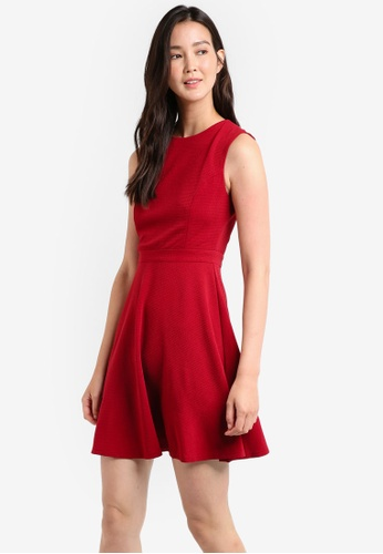 ZALORA red Textured Knit Dress FEAE8AA892003CGS_1