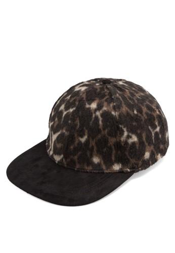 AAA Leopard Print Snapback Cap, 飾品配件, 飾esprit outlet台北品配件