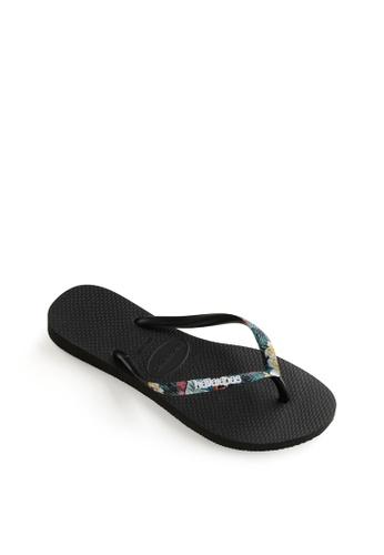 Havaianas black Slim Strapped Flip Flops 455F7SHDBB8C2CGS_1