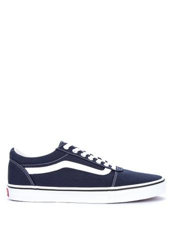 VANS blue Canvas Ward Sneakers 097F7SH6240771GS_1