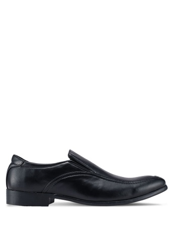 UniqTee black Formal Slip On Shoes 55349SHE6203A2GS_1