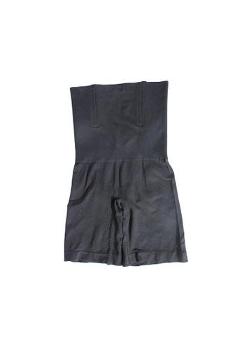 YSoCool black High Waist Firm Control Shaping Shorts Underwear 367ADUSA2C4E67GS_1