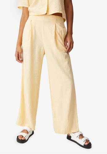 Cotton On yellow Wide Leg Paradise Pants 8636AAA98D612BGS_1