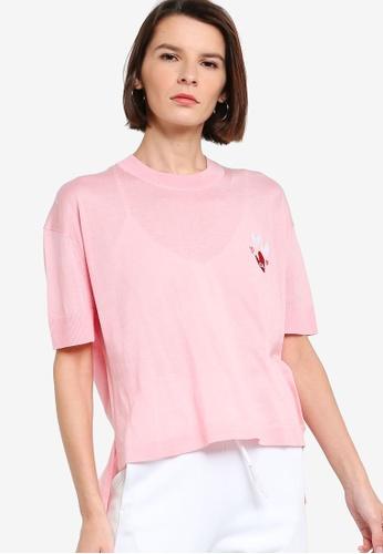 ck Calvin Klein pink VALENTINE ORGANIC COTTON EASY TOP 86D77AAE2C31CCGS_1