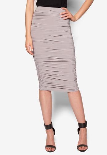 抓皺緊身及膝短裙、 服飾、 裙子MISSGUIDED抓皺緊身及膝短裙最新折價