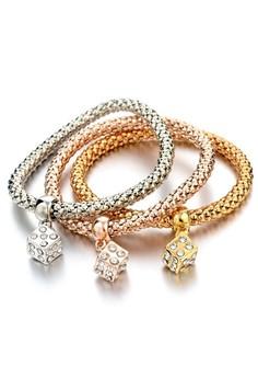 Dice Pendant Charm Bracelet by ZUMQA