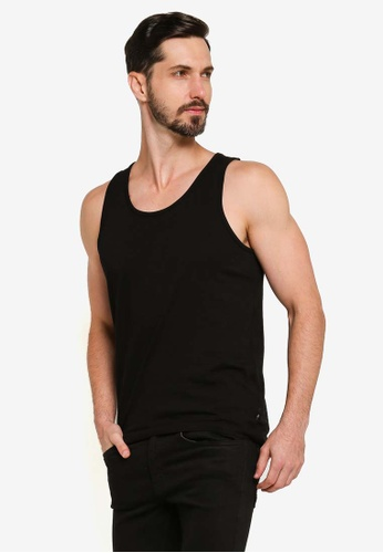 Burton Menswear London black Black Basic Vest 43913AA226BA28GS_1