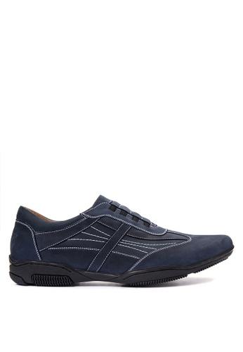 Gibi navy Men's Lace up Sneakers GI342SH08UXBPH_1