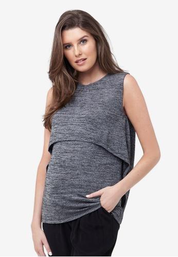 Ripe Maternity grey Maternity Swing Back Nursing Tank D2304AA89CE7E7GS_1