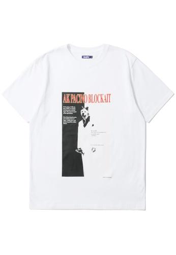 BLOCKAIT white Akita Ken graphic tee F8C4AAA4D00585GS_1