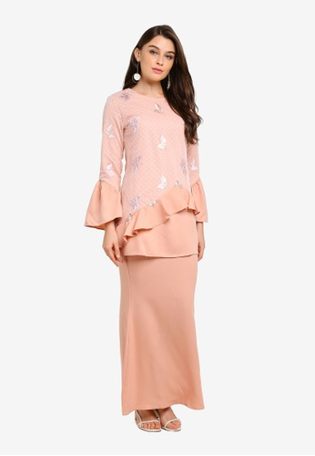 Kurung Modern from peace collections in Orange