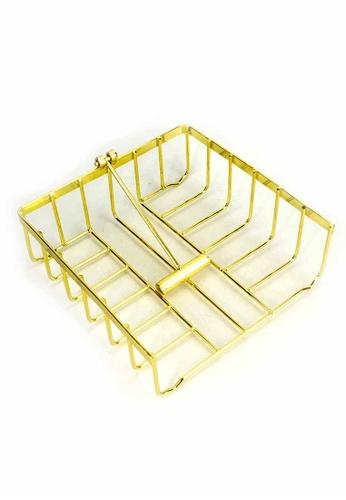Slique gold Signature By Premium Metal Gold Electroplate Paper Napkin Holder 077ECHLA30D127GS_1