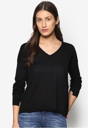 V 領zalora時尚購物網的koumi koumi長袖衫, 服飾, 外套