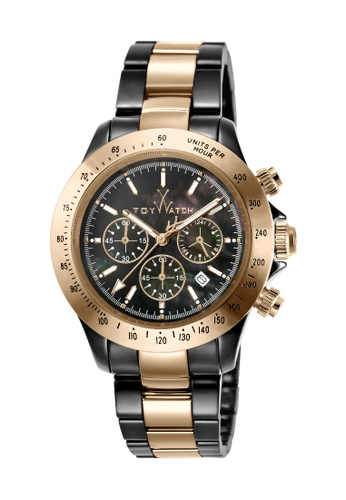 ToyWatch black Toywatch Ceramic Stainless Steel Rosegold Chrono Black Dial Men Watch  TYCHMC03BKPG 9AFFBAC8086B94GS_1