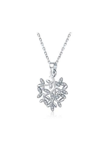 A-Excellence white Premium Elegant White Sliver Necklace A6FDFAC7503DD0GS_1