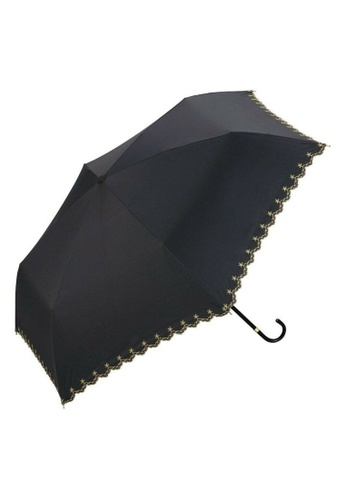 WPC black WPC Parasol Star Scallop Mini Umbrella (Black) BC29DACCE187DAGS_1