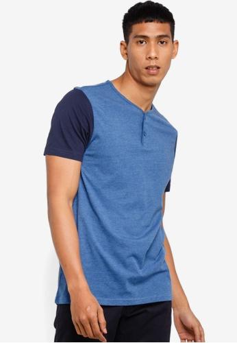23278491f1d01 Buy Brave Soul Contrast Sleeve Henley T-Shirt Online on ZALORA Singapore