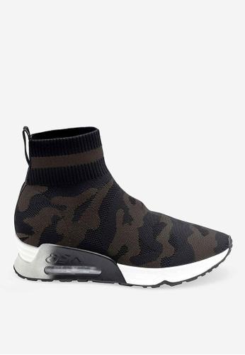ASH black Lulu Camo - Black Knit High-Top Sneakers E9D40SH8A652FCGS_1