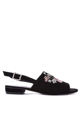 BENCH black Sling Back Peep Toe Sandals D9074SHAE6ABC4GS_1