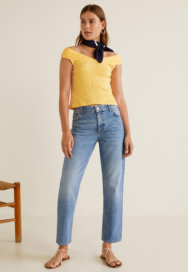 Off Shoulder Mango Yellow Crop Top q0YU7