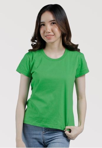 CROWN green Ladies Round Neck Tshirt AF1EAAAF64B899GS_1