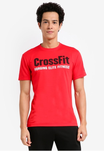 Reebok 紅色 Reebok CrossFit Speedwick F.E.F. Tee RE691AA0SW3TMY_1