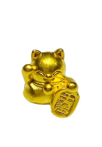 LITZ gold [SPECIAL] LITZ 999 (24K) Gold  Lucky Cat Charm 招财猫 EPC0157SS (0.10g+/-) 822F2AC6DA132FGS_1