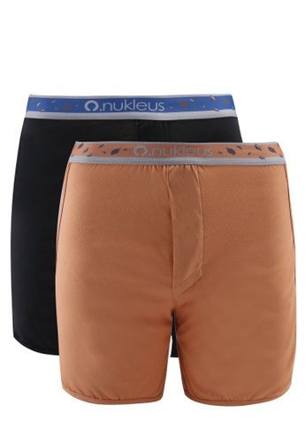 Nukleus black and brown Seed of Greatness Men Boxers C6528USFDC0FD3GS_1