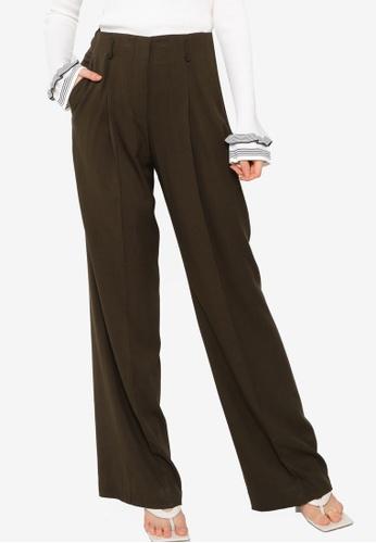 Sacoor Brothers yellow Women's Trousers E4B2EAAE8737EFGS_1