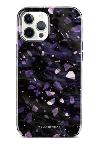 Polar Polar purple Lilac Terrazzo Gem Dual-Layer Tough Case Glossy For iPhone 12 Pro Max 793D2ACAECEF0EGS_1